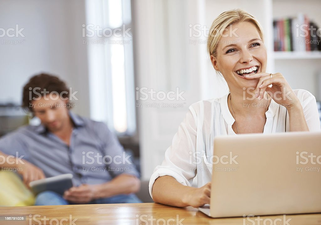 Thinking about what to blog next... royalty-free stock photo