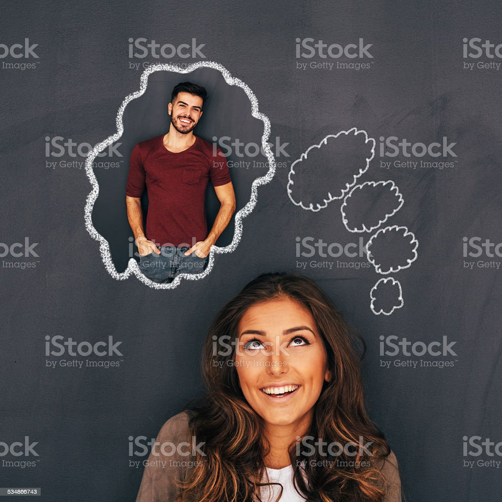 Thinking about you stock photo
