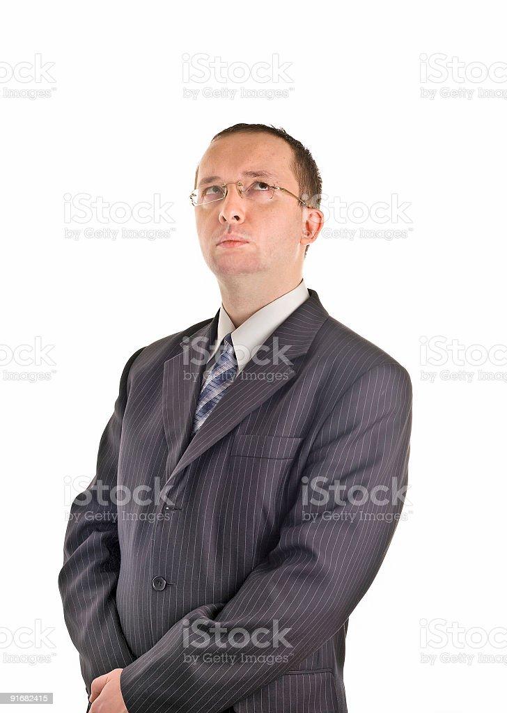 thinking adult male businessman royalty-free stock photo