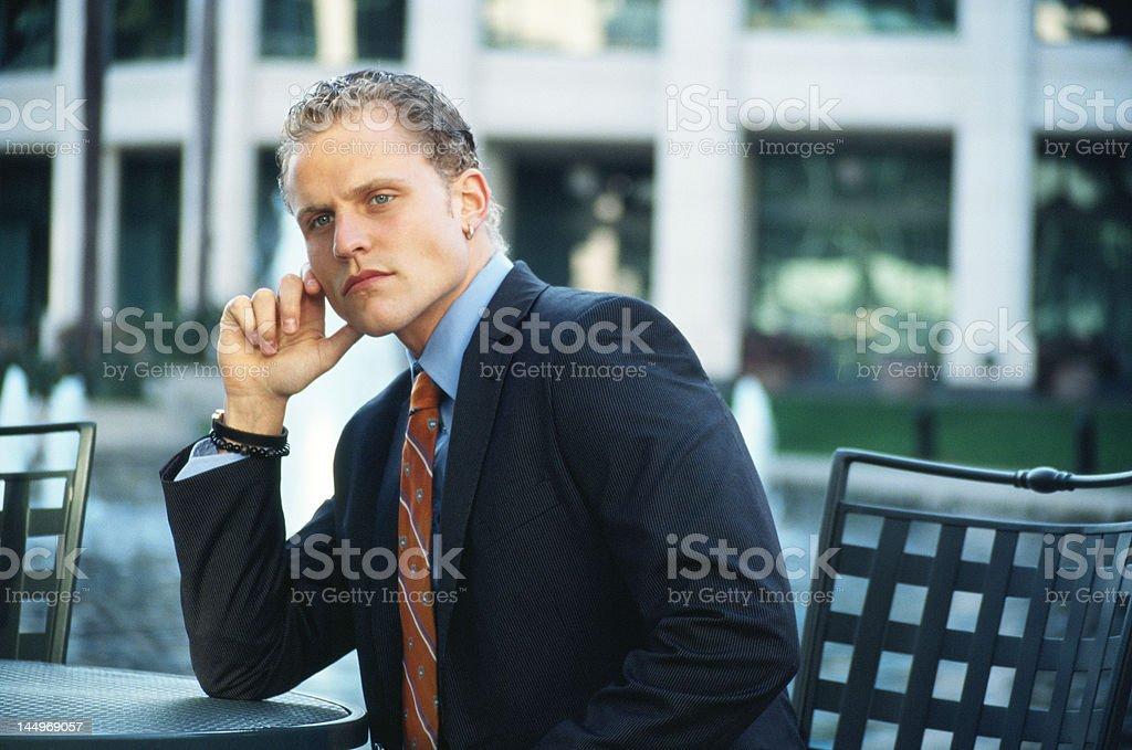 Pensée Homme d'affaires photo libre de droits
