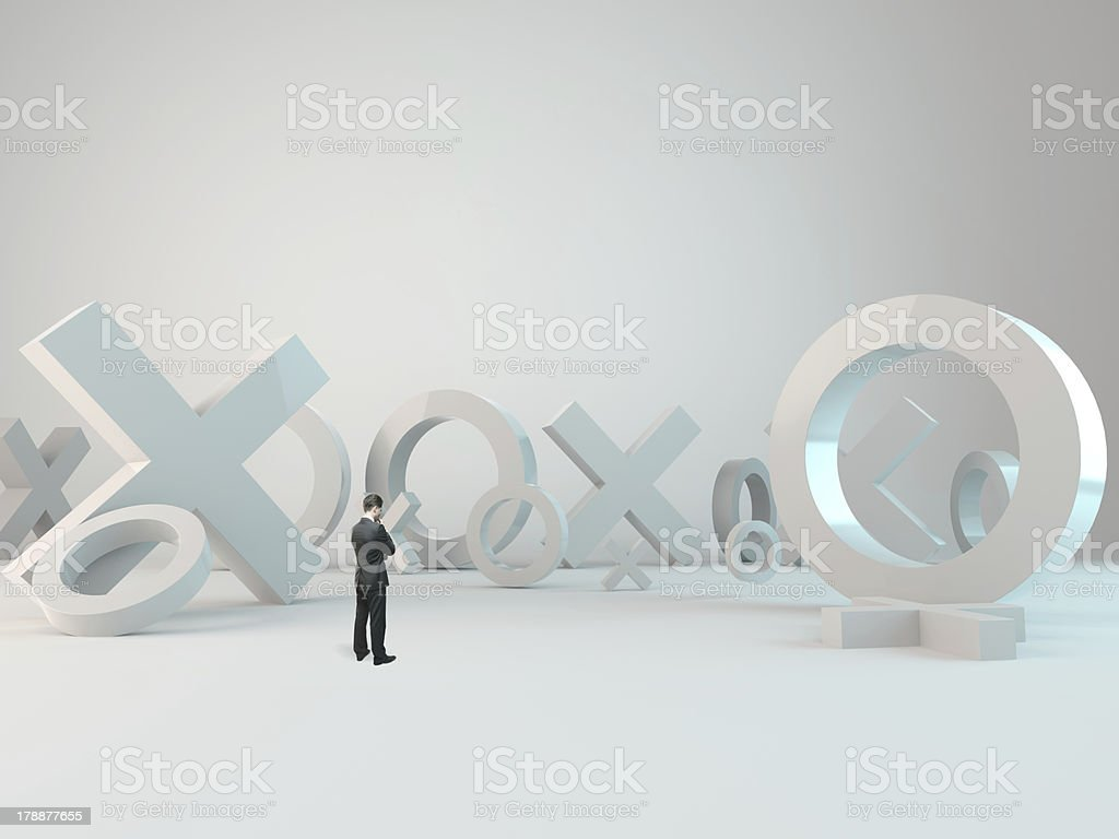 thinking businessman royalty-free stock photo