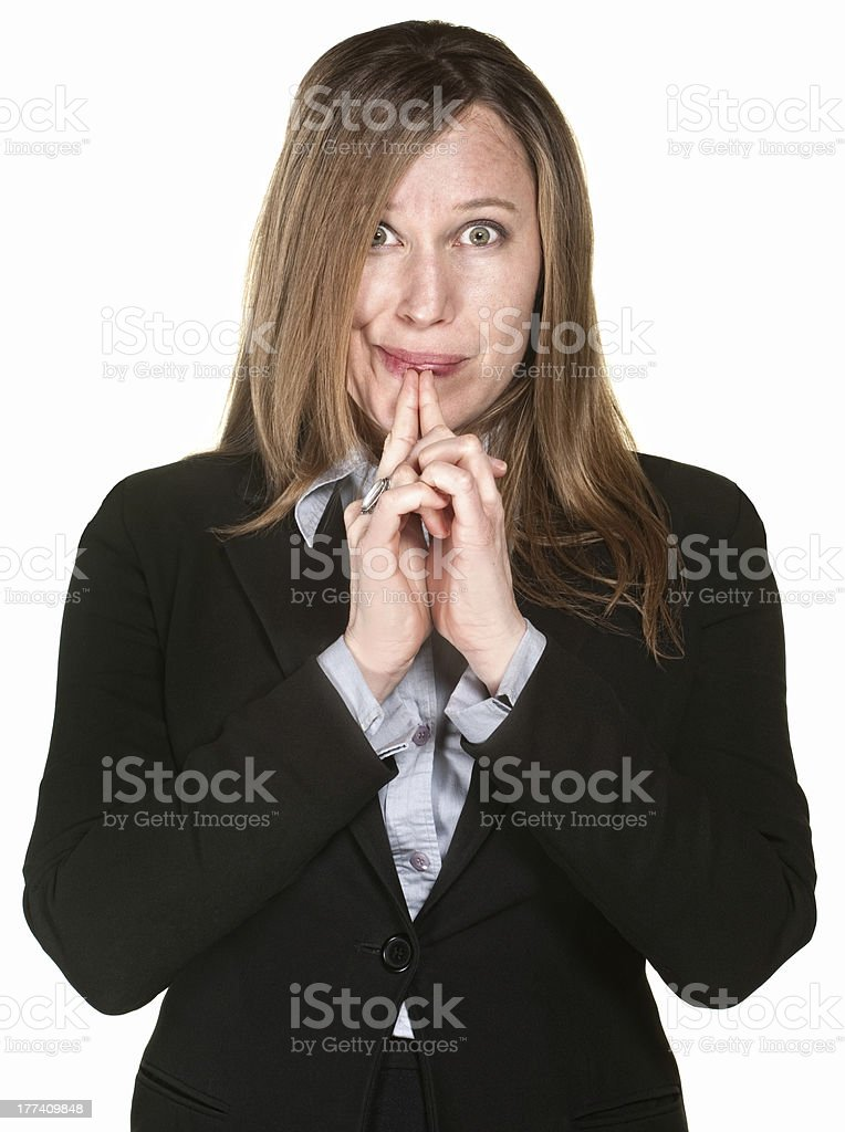 Thinking Businesswoman royalty-free stock photo