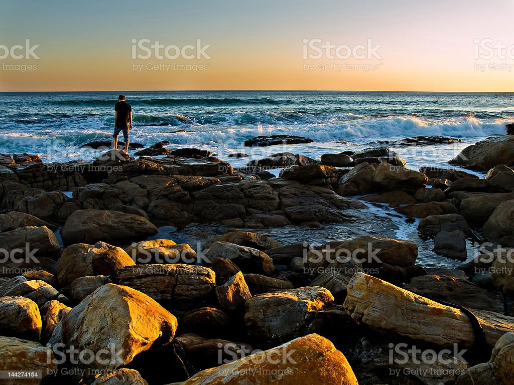 Thinking by the Sea royalty-free stock photo