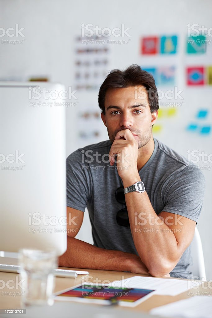 Thinking creative thoughts royalty-free stock photo
