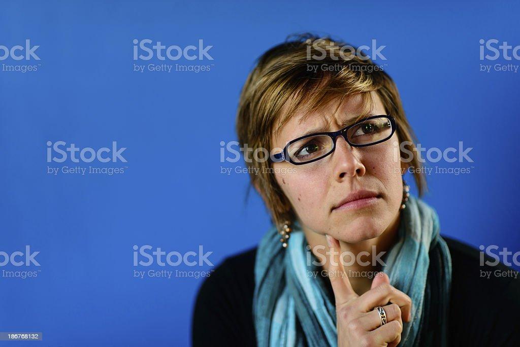 Thinking Female royalty-free stock photo