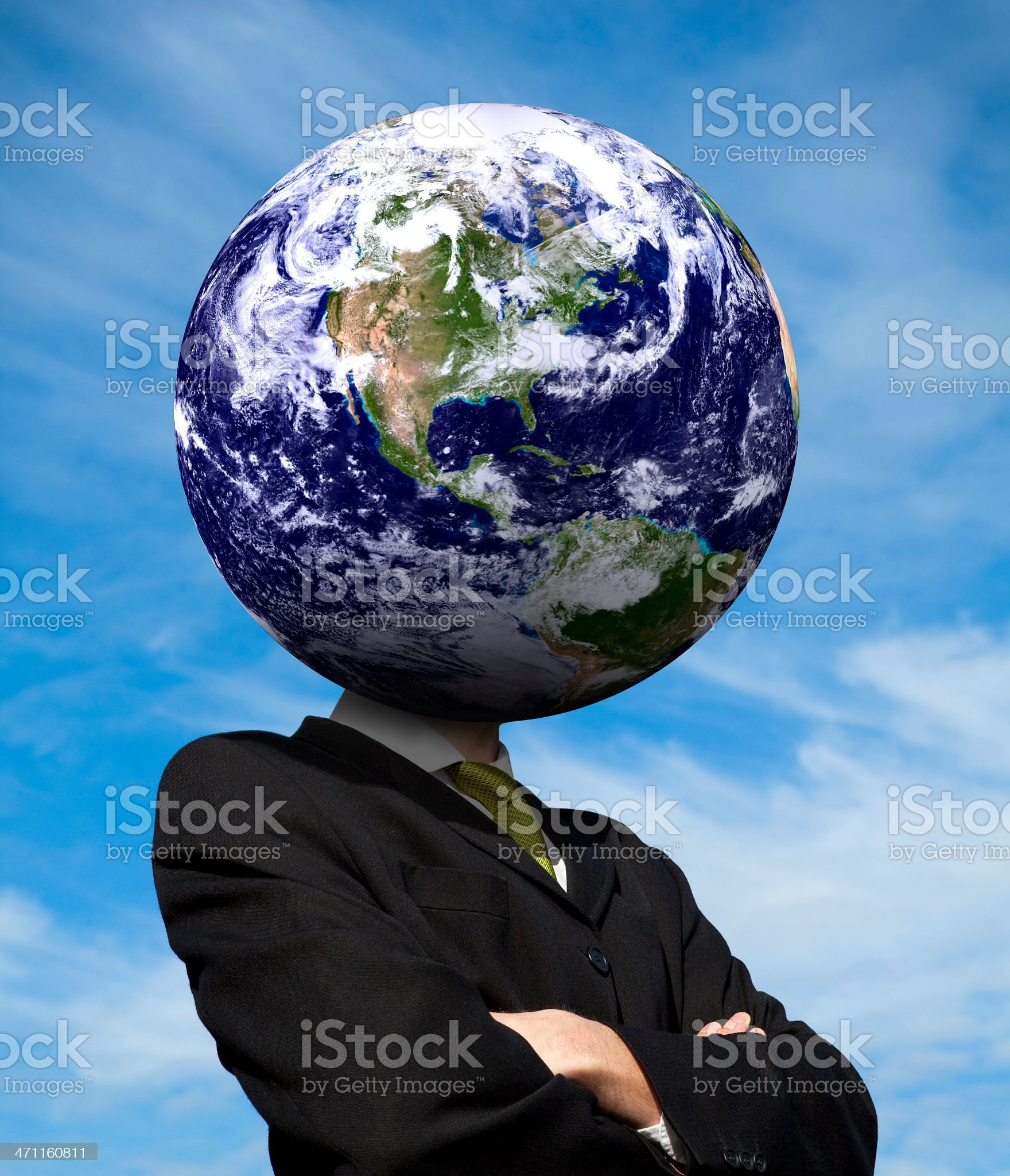 Thinking Globally: Americas royalty-free stock photo