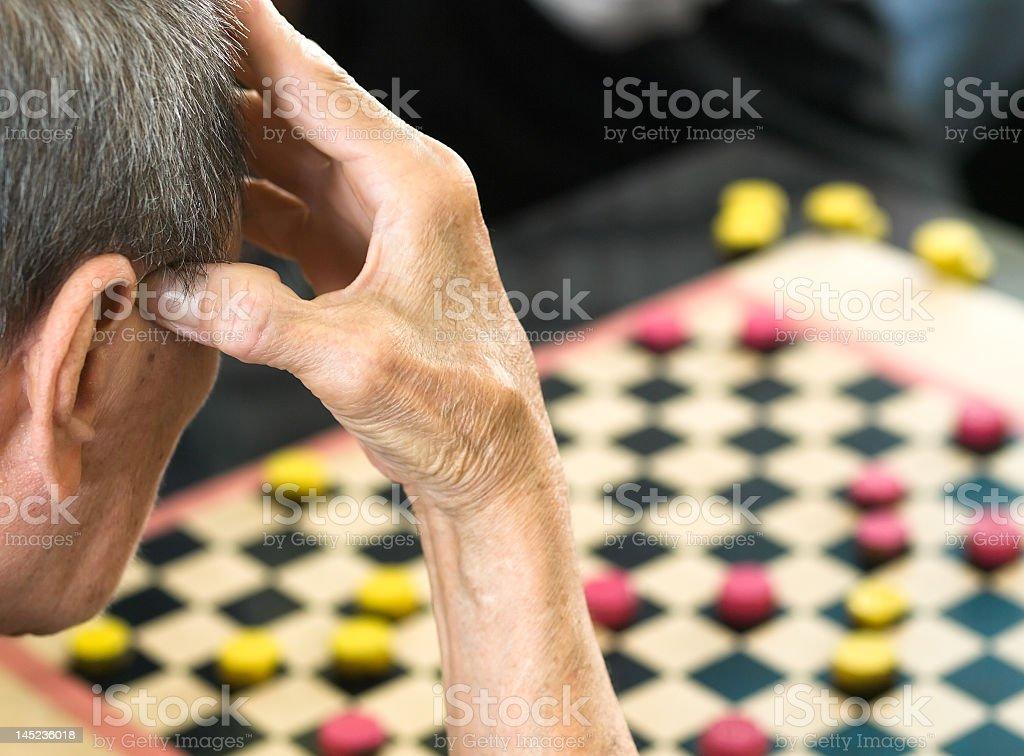 Thinking hard stock photo