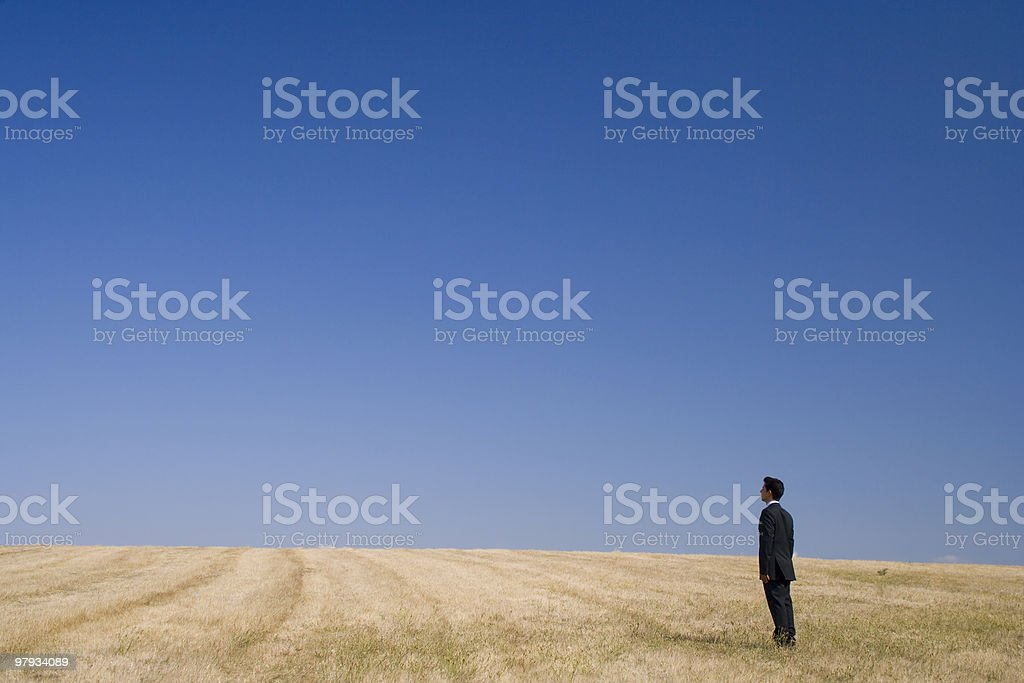 Thinking in nature royalty-free stock photo