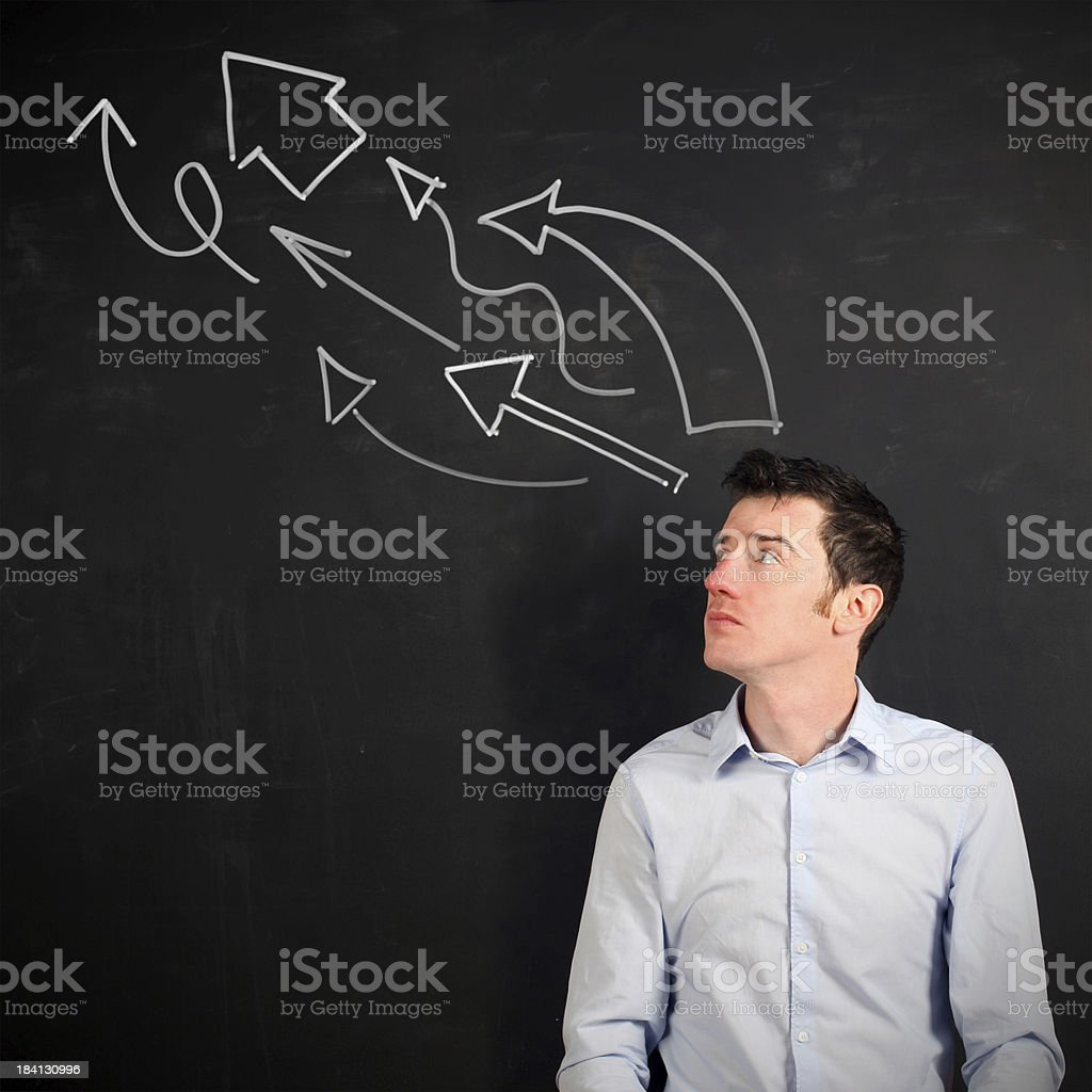 Thinking in the right direction royalty-free stock photo