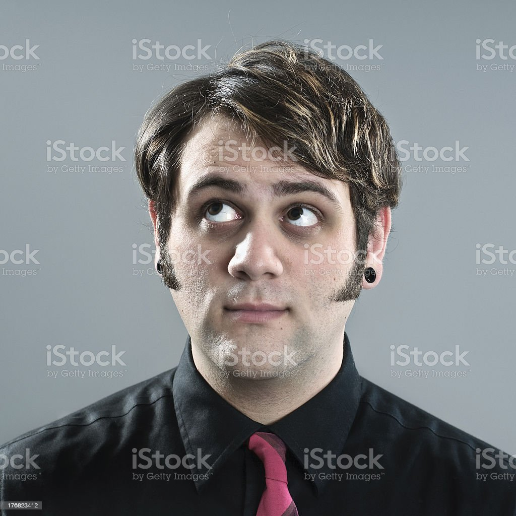 Thinking Indy Hipster Man royalty-free stock photo