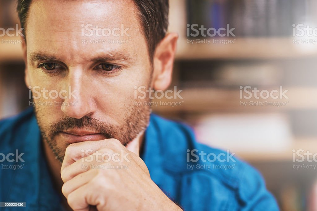Thinking it over stock photo