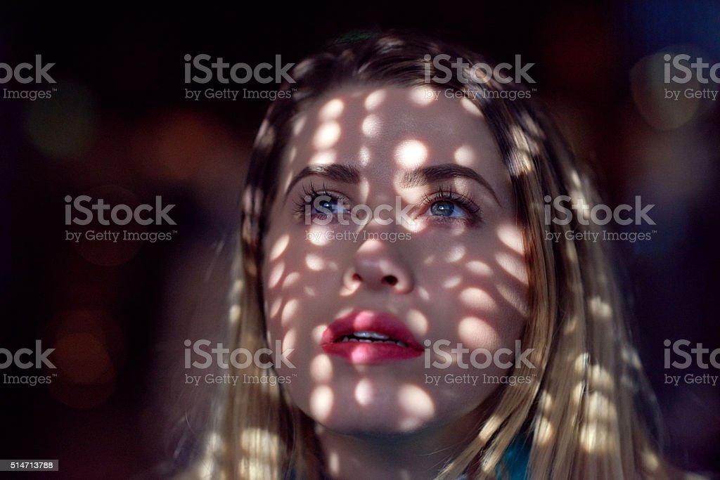 thinking, looking, feeling stock photo