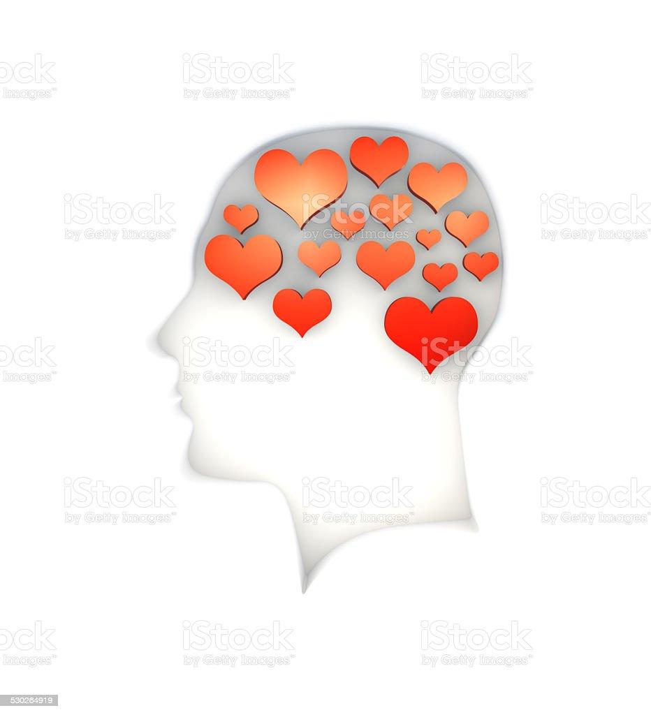 Thinking Love stock photo