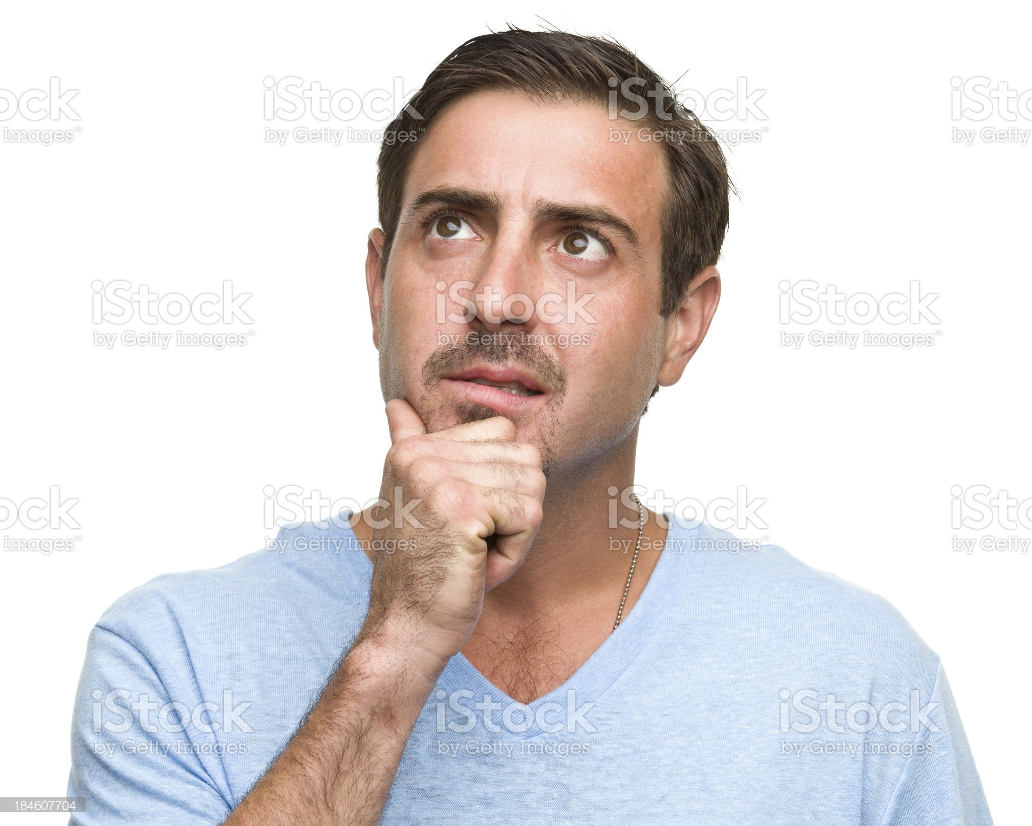Thinking Man Daydreams royalty-free stock photo