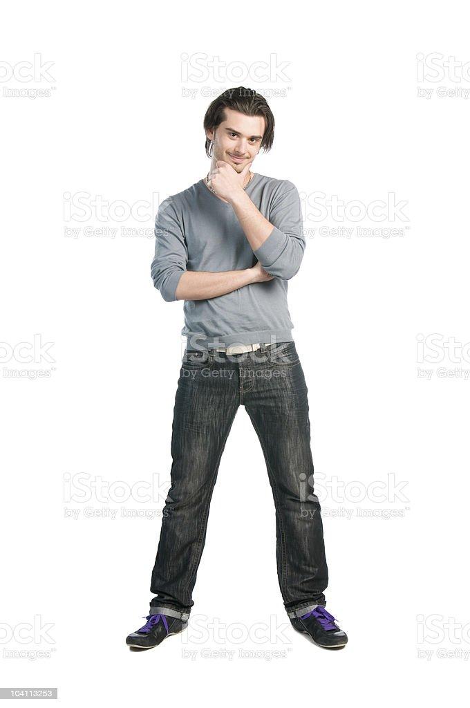 Thinking man full length royalty-free stock photo