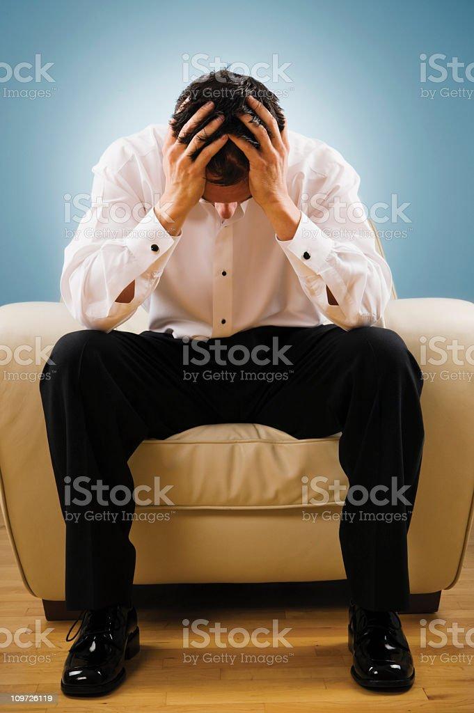Thinking Man royalty-free stock photo