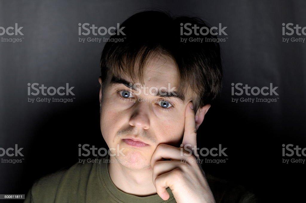 Thinking man stock photo