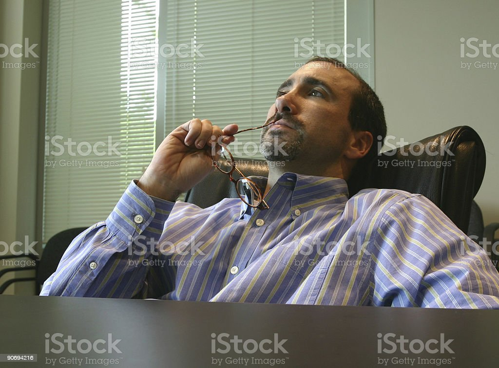 Thinking man royalty-free stock photo