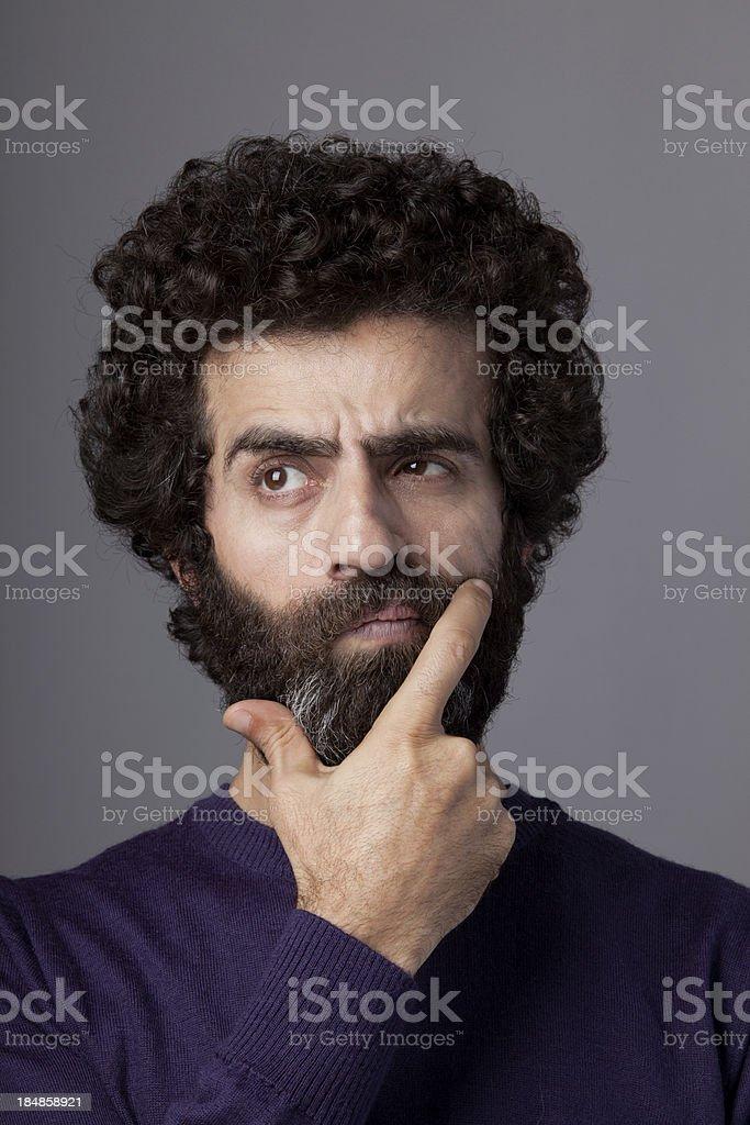Thinking man portrait royalty-free stock photo