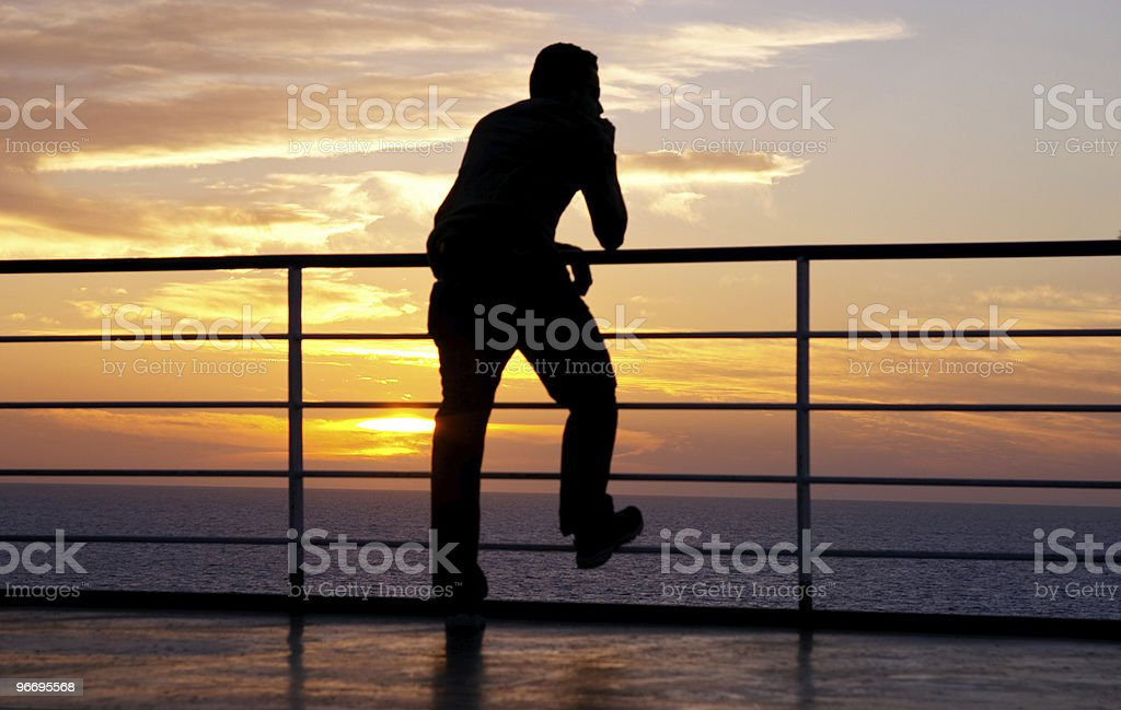Thinking man silhouette stock photo