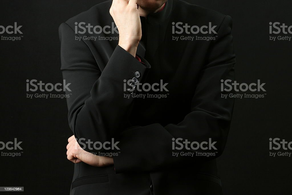 Thinking man's torso royalty-free stock photo