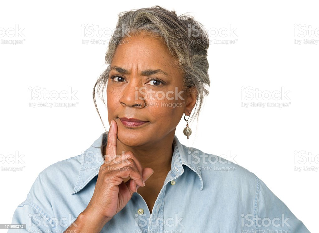 Thinking Mature Woman royalty-free stock photo