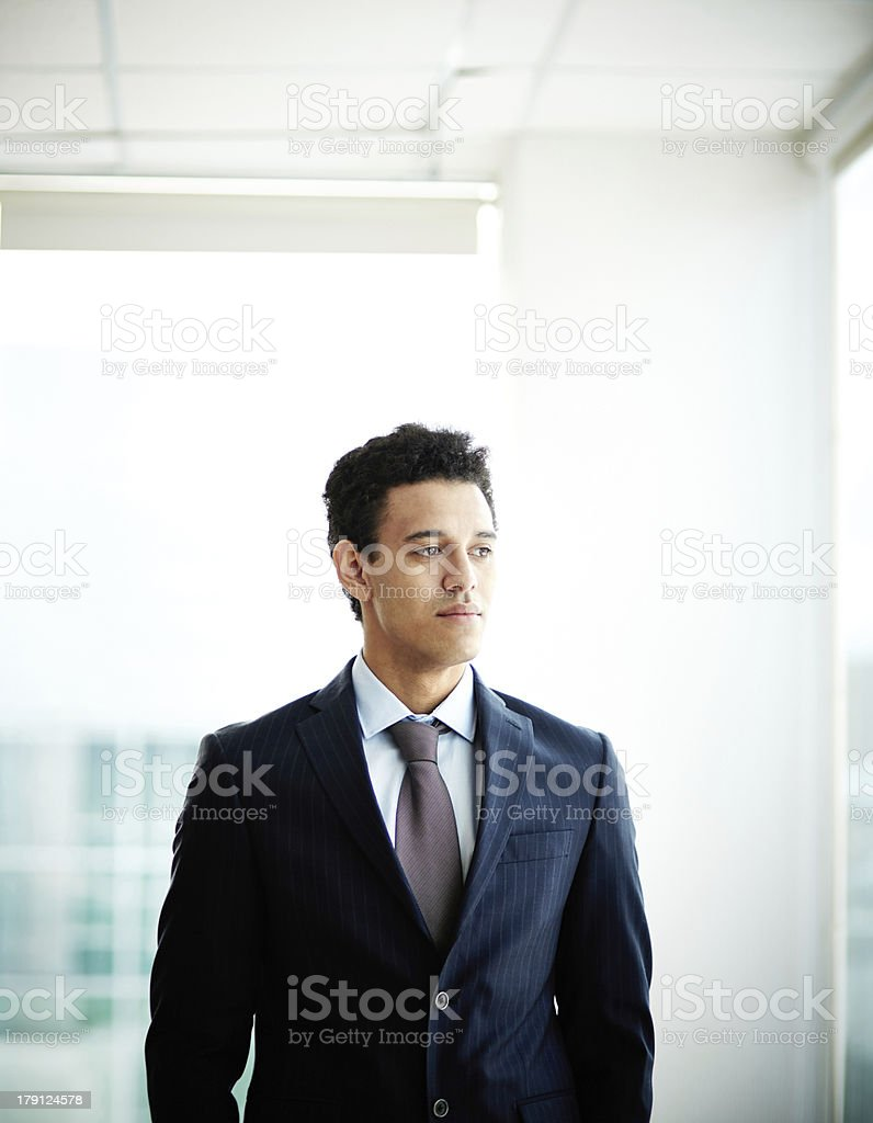 Thinking of business royalty-free stock photo
