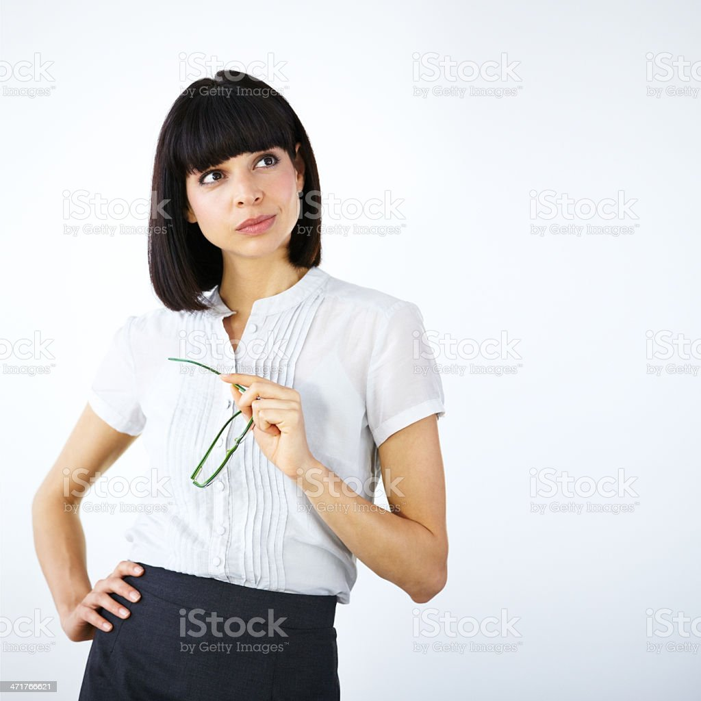 Thinking of exceptional business ideas royalty-free stock photo