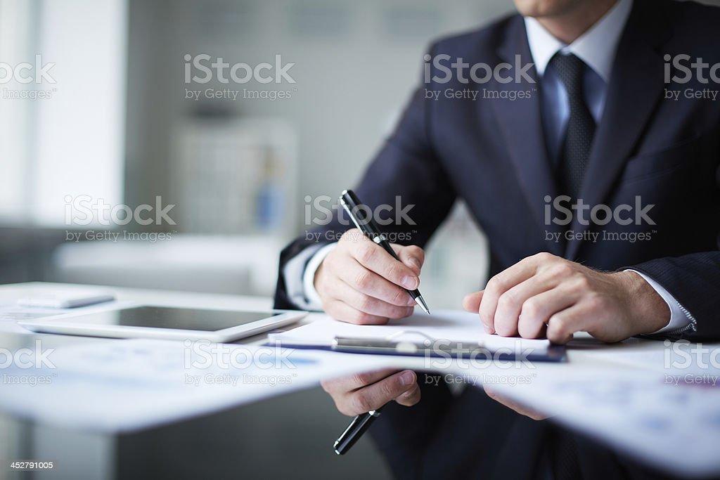 Thinking of ideas royalty-free stock photo