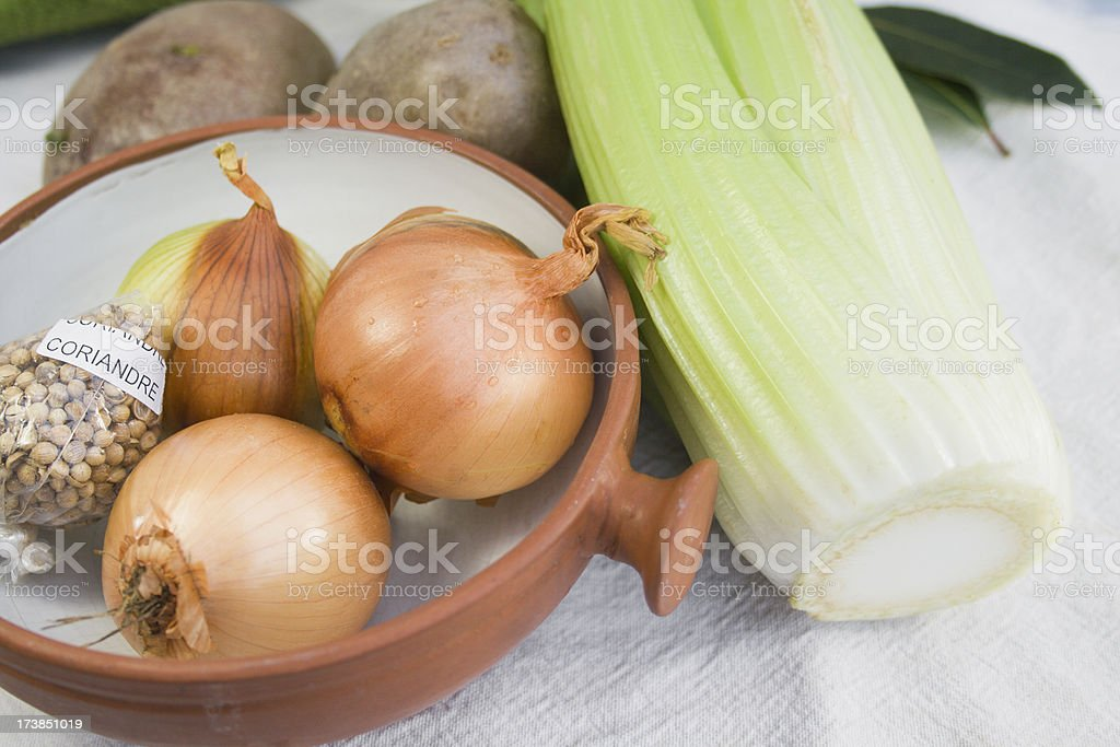 Thinking of Soup. royalty-free stock photo