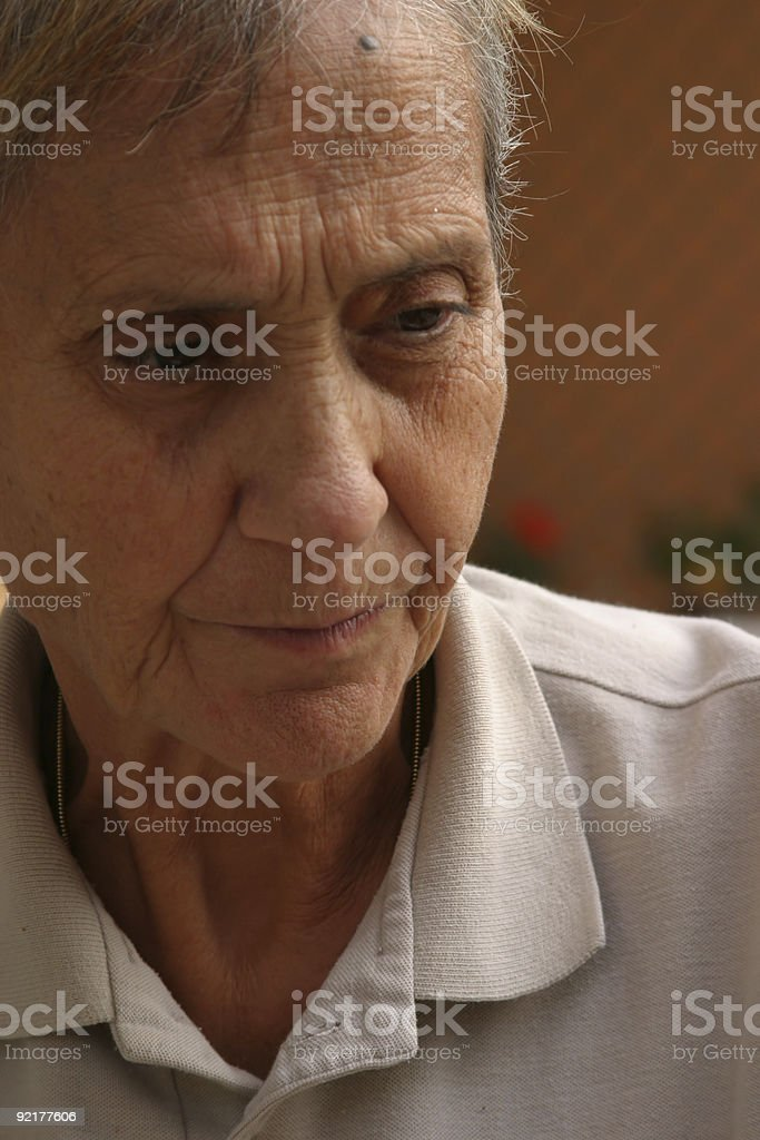 thinking of the old times royalty-free stock photo