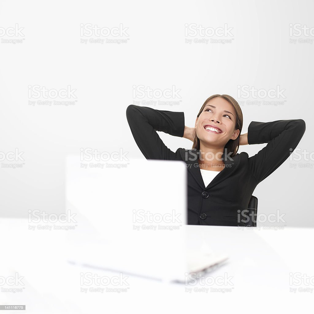 Thinking office worker royalty-free stock photo