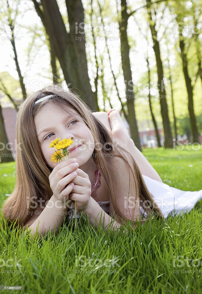 thinking on the field royalty-free stock photo