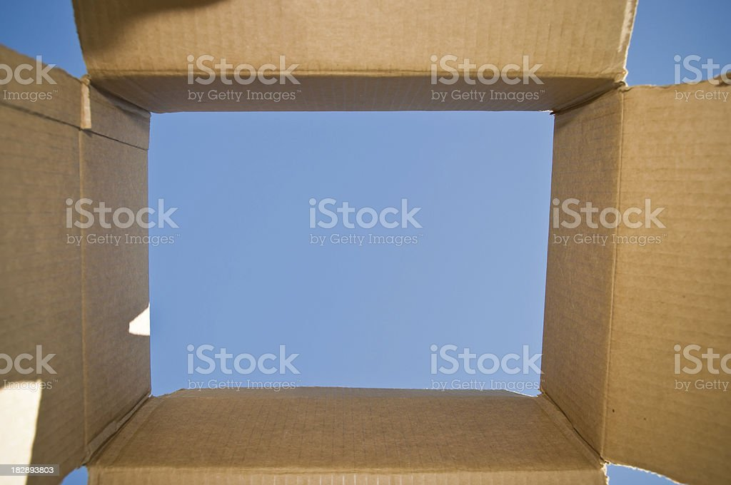 Thinking out of the box concept royalty-free stock photo