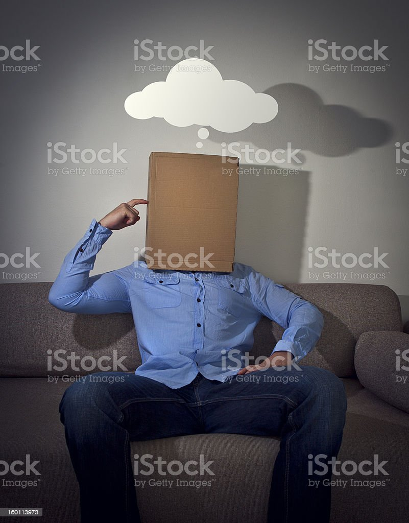 Thinking out of the box stock photo