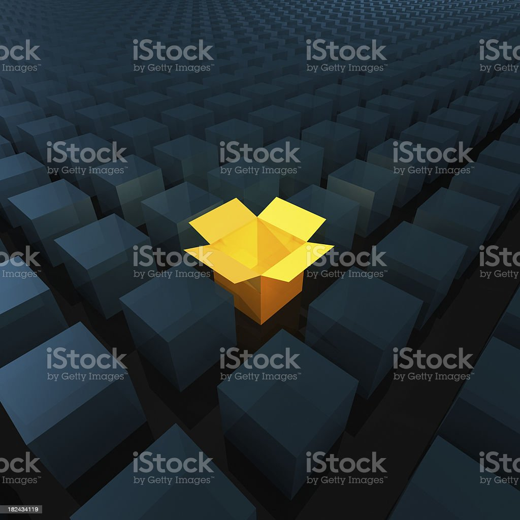 Thinking Out of the Box (XXXL) royalty-free stock photo