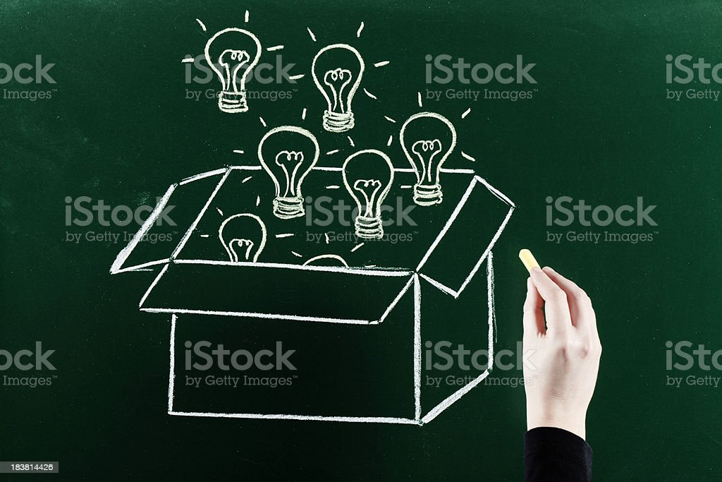 Thinking out of the box royalty-free stock photo