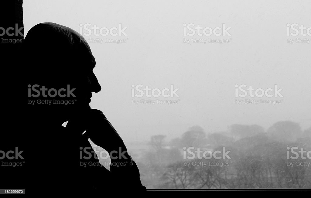 Thinking out the window royalty-free stock photo