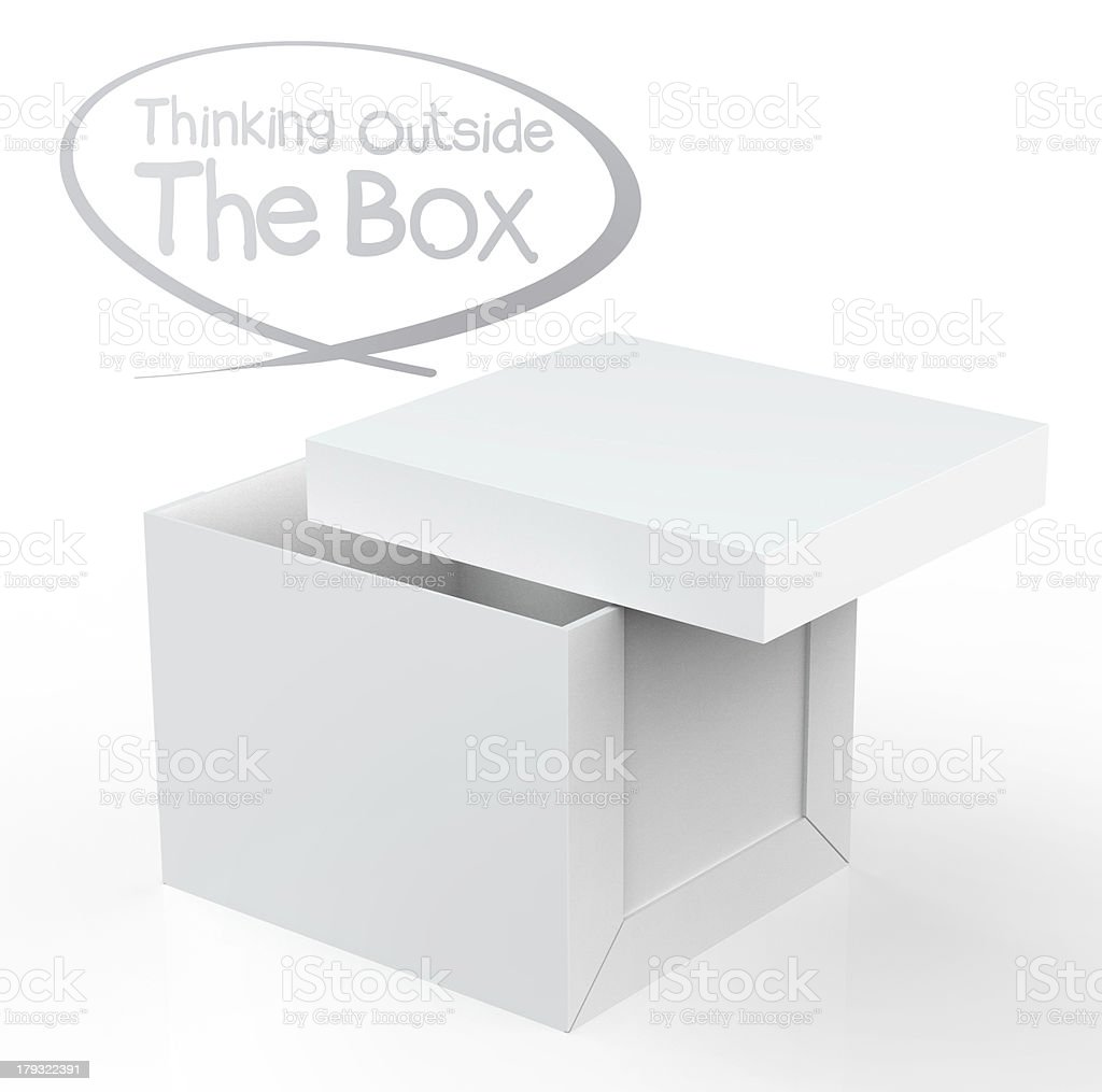 thinking outside the box royalty-free stock photo