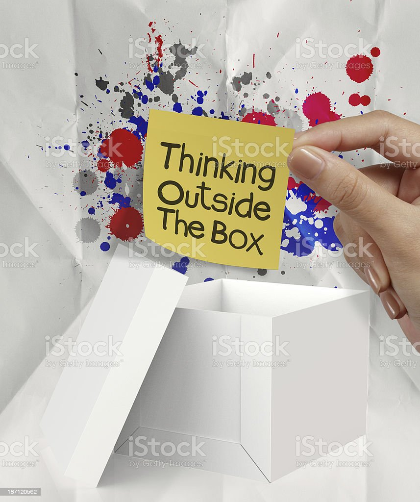 thinking outside the box royalty-free stock photo
