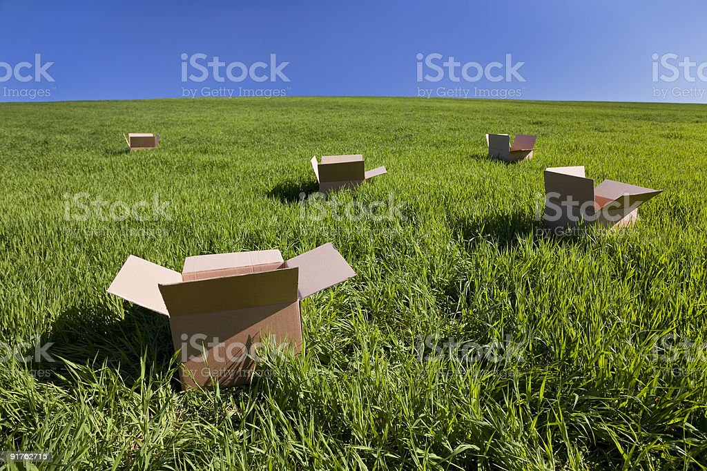 Thinking Outside The Box stock photo