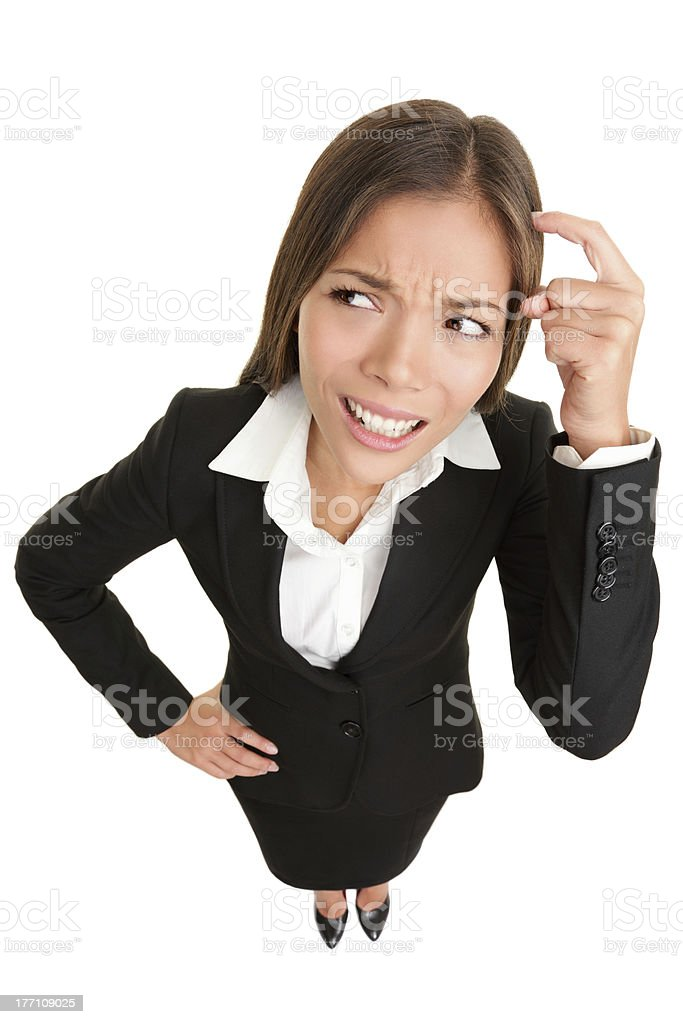 Thinking people - businesswoman stock photo