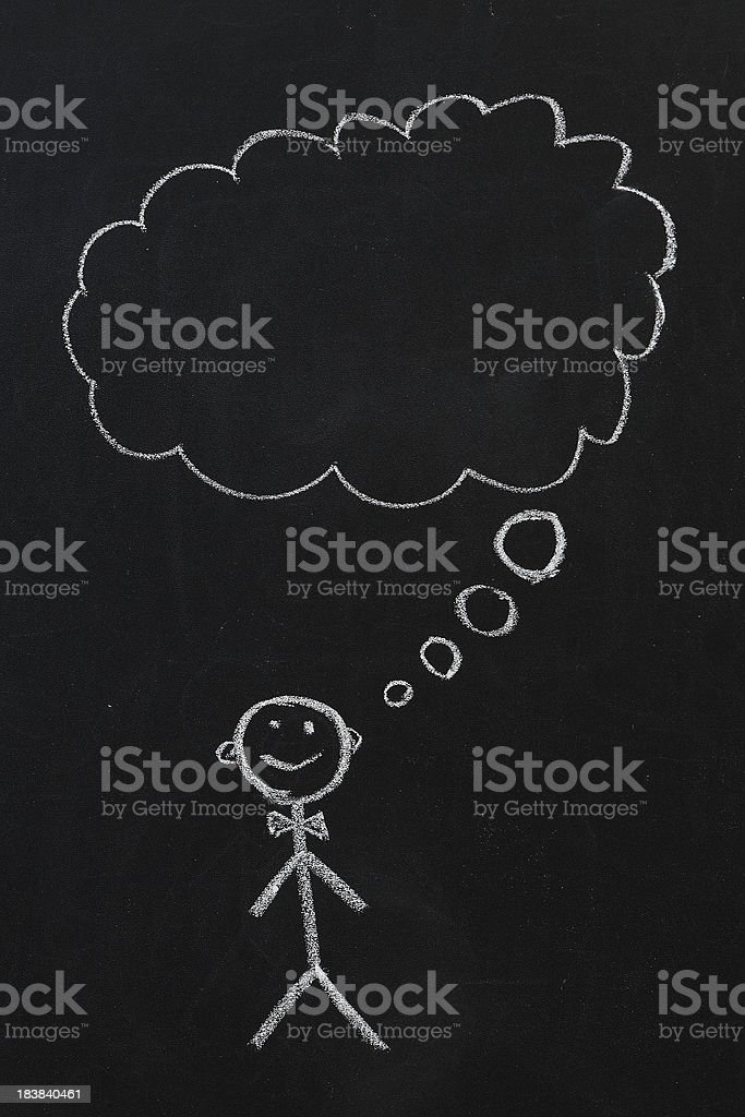 Thinking royalty-free stock photo