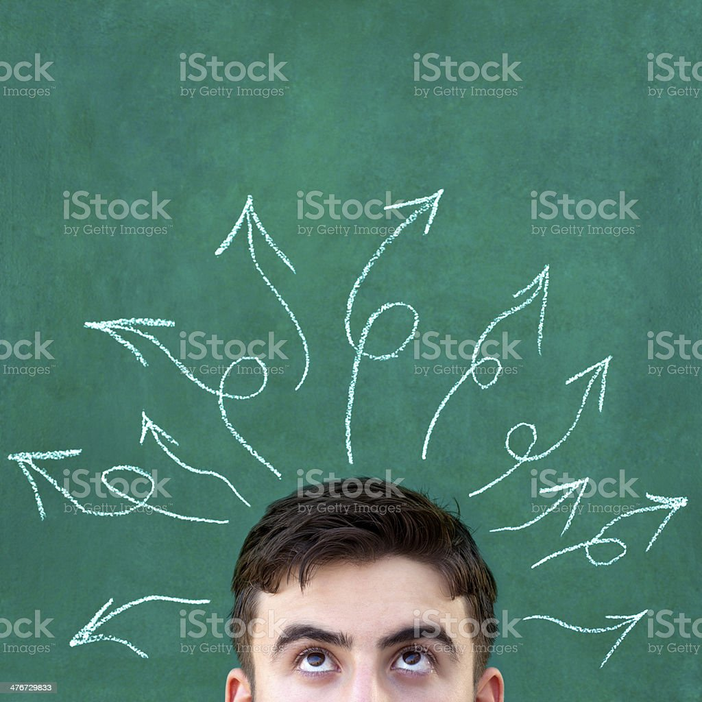 Thinking royalty-free stock photo