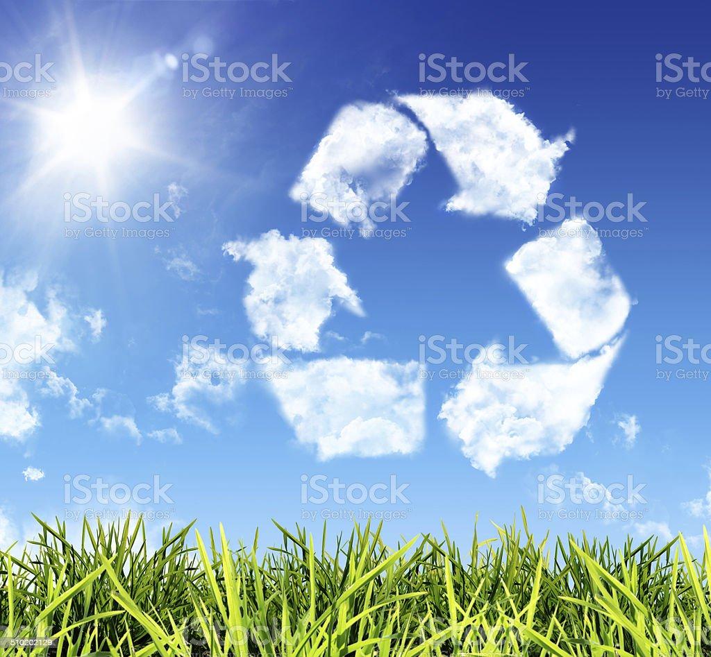 thinking recycling stock photo