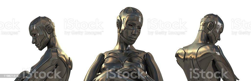 Thinking robots royalty-free stock photo