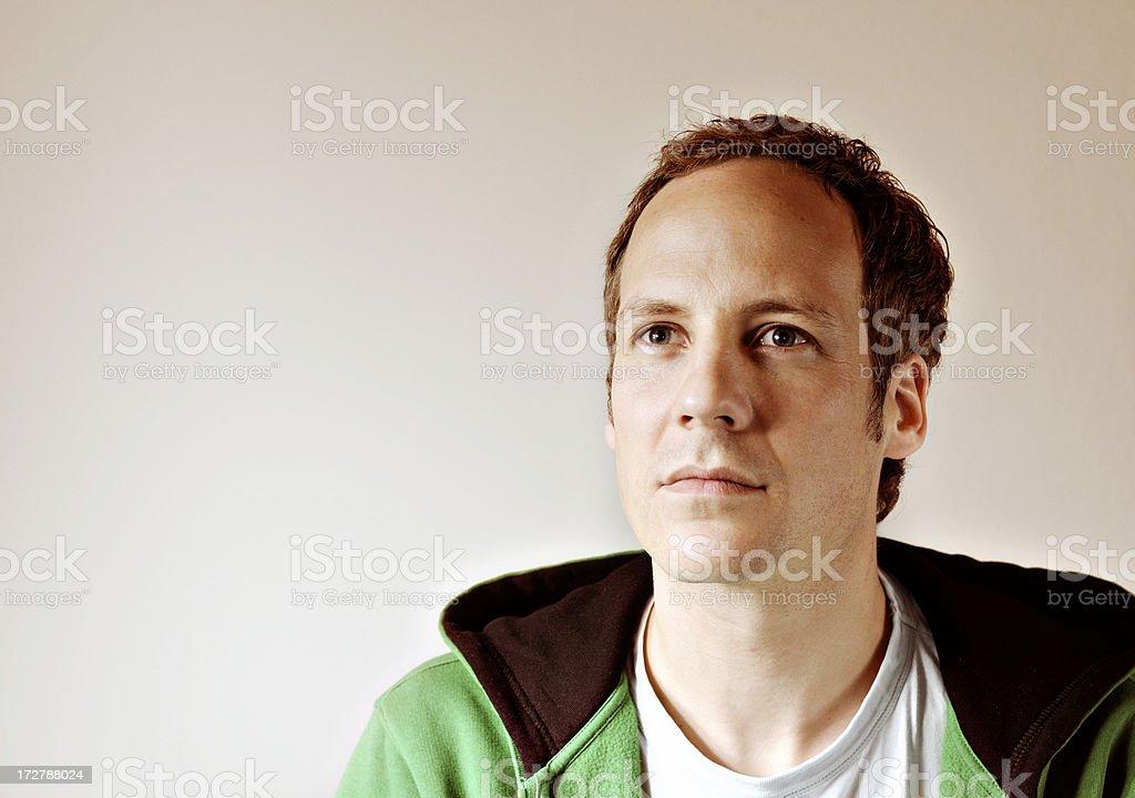 thinking serious man royalty-free stock photo