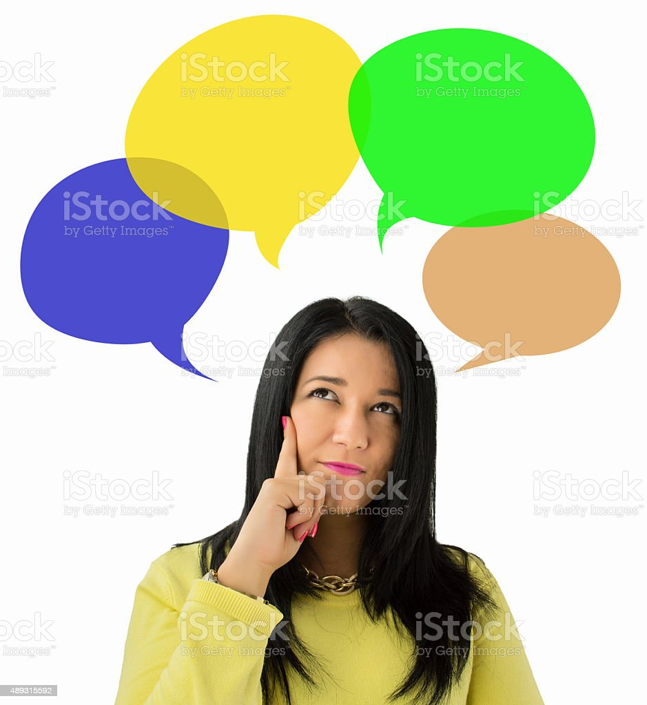 thinking solutions stock photo