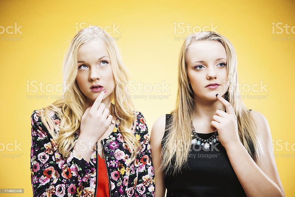 Thinking teenagers royalty-free stock photo