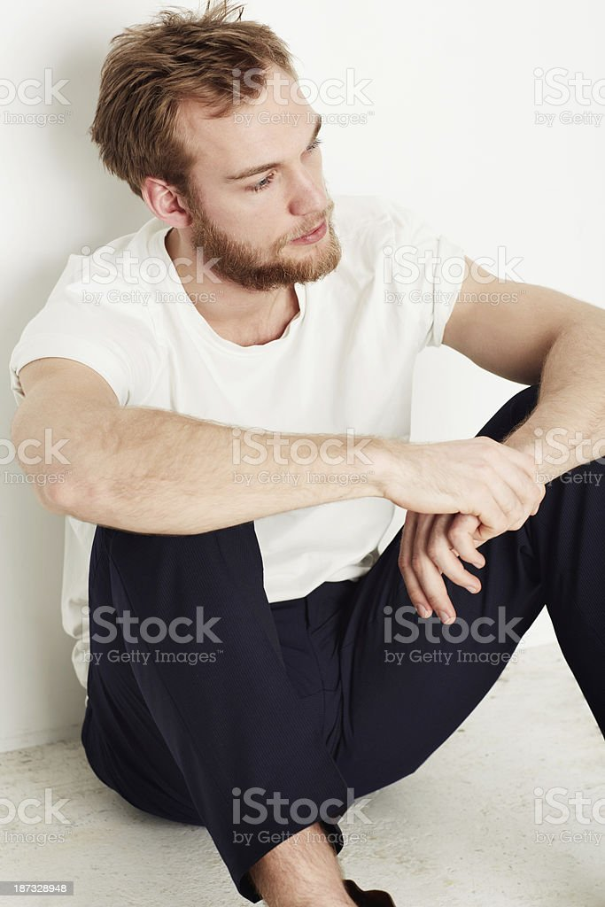 Thinking things over royalty-free stock photo